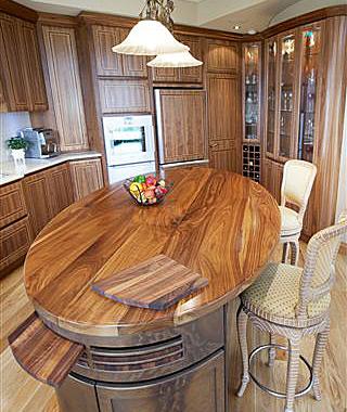American Walnut interior kitchen
