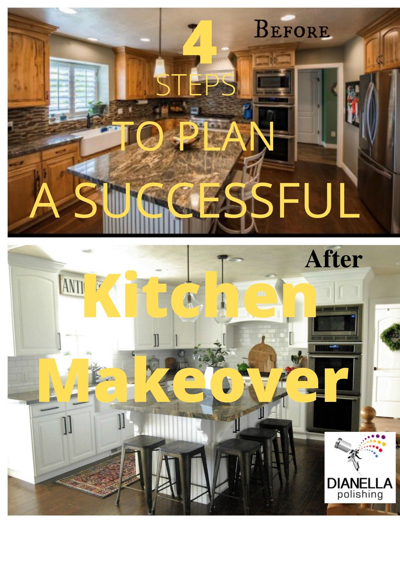 There are 4 steps to plan a successful kitchen makover