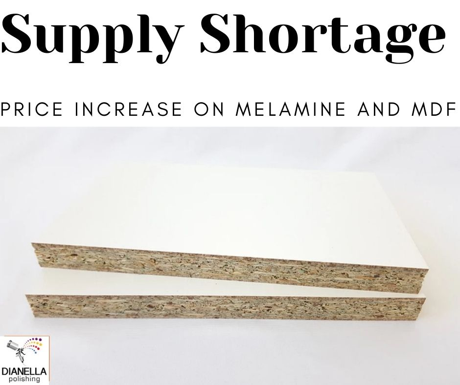 Dopuble sided Melamine shortage