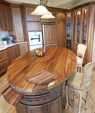American Walnut interior kitchen